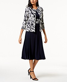Dress & Floral-Print Jacket