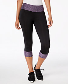 Ideology Rapidry Colorblocked Capri Leggings, Created for Macy's