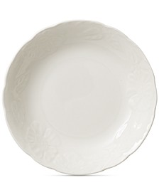 Rose Sauvage Blanche Rim Soup Bowl