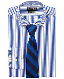 Polo Ralph Lauren Men's Slim Fit Striped Cotton Dress Shirt