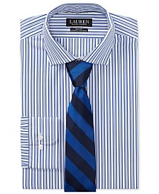 Lauren Ralph Lauren Men's Slim Fit Striped Cotton Dress Shirt