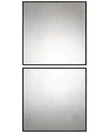 Matty Antiqued Square Mirrors, Set of 2