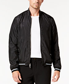Michael Kors Men's Perforated Bomber Jacket