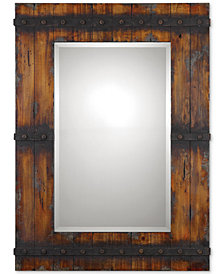 Uttermost Stockley Rustic Mahogany Mirror