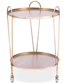 Zuo Trebede Gold-Tone Bar Cart
