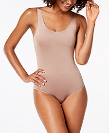 I.N.C. Smooth Scoop-Neck Bodysuit, Created For Macy's