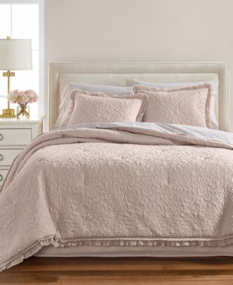 CLOSEOUT! Crochet & Ruffle 8-Pc. Queen Comforter Set, Created for Macy's