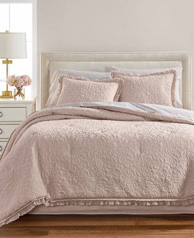 Martha Stewart Collection Crochet & Ruffle 8-Pc. Comforter Sets, Created for Macy's