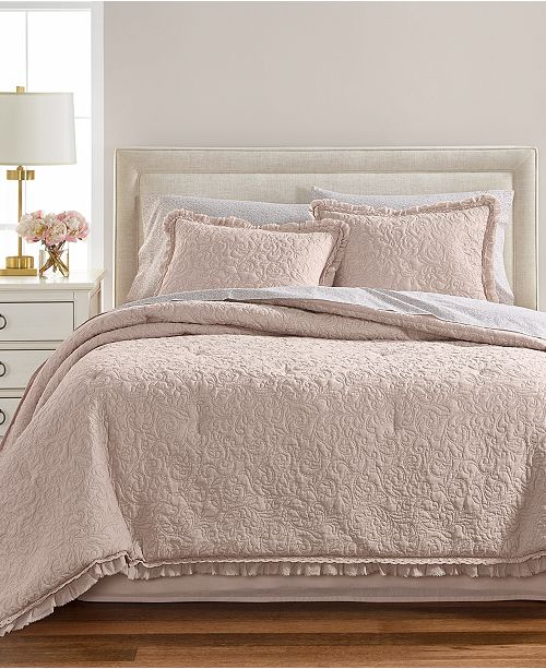 Martha Stewart Collection Crochet Ruffle 8 Pc Comforter Sets