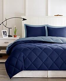 Larkspur Reversible 3-Pc. King Comforter Set