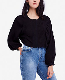 Free People Day Dreaming Cotton Drop-Sleeve Blouse