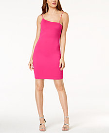 GUESS Asymmetrical-Neck Bodycon Dress