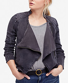 Free People Cotton Moto Jacket