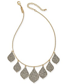 "INC Gold-Tone Crystal Statement Necklace, 16' + 3"" extender, Created for Macy's"