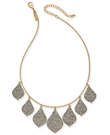 "I.N.C. Gold-Tone Crystal Statement Necklace, 16' + 3"" extender, Created for Macy's"