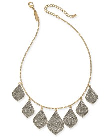 """I.N.C. Gold-Tone Crystal Statement Necklace, 16' + 3"""" extender, Created for Macy's"""