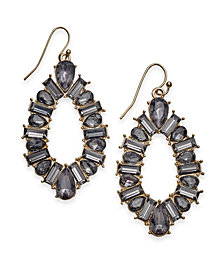 I.N.C. Gold-Tone Crystal Open Drop Earrings, Created for Macy's