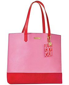 Receive a Complimentary Tote Bag with any large spray purchase from the World Of Juicy fragrance collection