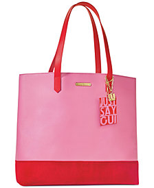 Receive a Complimentary Tote Bag with any large spray purchase from the Juicy Couture World Of Juicy fragrance collection