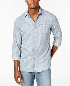 Calvin Klein Jeans Men's Dobby Striped Shirt