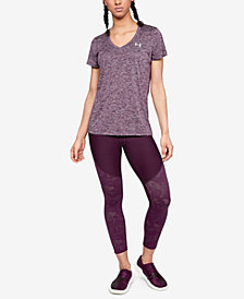 Under Armour UA Tech™ T-Shirt & Balance Mesh-Trimmed Leggings