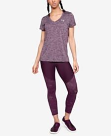 Under Armour UA Tech™ T-Shirt & Balance Mesh-Trimmed Leggings