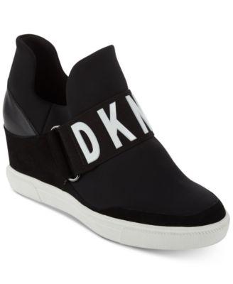 dkny black slip on sneakers