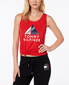 Tommy Hilfiger Sport Knotted Logo T-Shirt, Created for Macy's