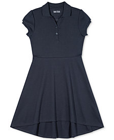 Nautcia Big Girls Fit & Flare Polo Dress