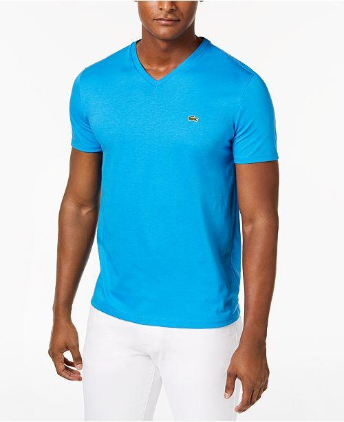 Lacoste Men's V-Neck Pima Cotton T-Shirt