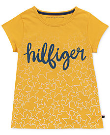 Tommy Hilfiger Big Girls Cotton Star-Print Logo T-Shirt