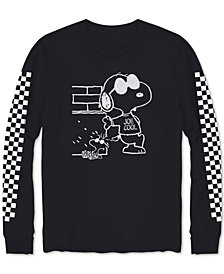 Hybrid Men's Snoopy Checkered T-Shirt