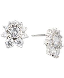 Carolee Silver-Tone Cubic Zirconia Cluster Stud Earrings