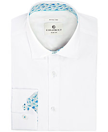 Con.Struct Men's Slim-Fit Stretch Novelty White Dress Shirt, Created for Macy's