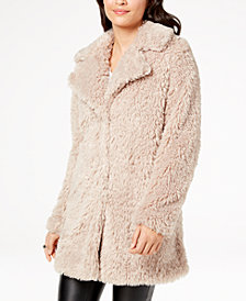 I.N.C. Faux-Fur Teddy Coat, Created for Macy's