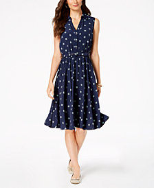 Charter Club Printed Shirtdress, Created for Macy's