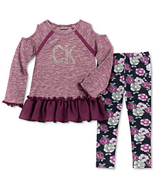 Calvin Klein Little Girls 2-Pc. Tunic & Leggings Set