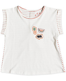 Roxy Little Girls Striped Cotton T-Shirt