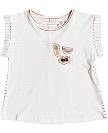 Roxy Little Girls Striped Cotton T-Shirt