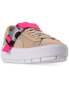 Puma Women's Suede Platform Trace Buckle Casual Sneakers from Finish Line