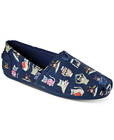 Skechers Women's Bobs Plush - Studious Cats Bobs for Dogs Casual Slip-On Flats from Finish Line