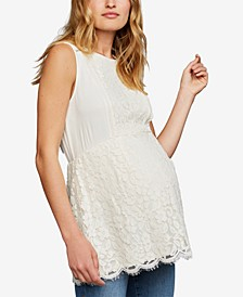 Maternity Lace Babydoll Blouse