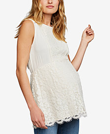 A Pea In The Pod Maternity Lace Babydoll Blouse
