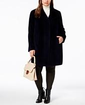 7ef0a526a57 Jones New York Plus Size Faux-Fur Coat