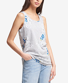 DKNY Floral-Print Tank Top, Created for Macy's