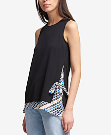 DKNY Layered-Look Tank Top, Created for Macy's