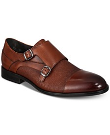 Men's Luxton Textured Double Monk Cap-Toe Loafers, Created for Macy's