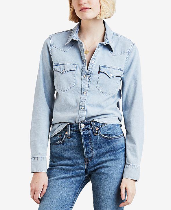 Levi's Women's Cotton Ultimate Western Denim Shirt