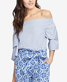 RACHEL Rachel Roy Off-The-Shoulder Tiered-Sleeve Top, Created for Macy's