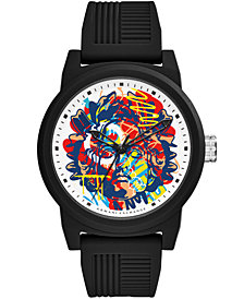 A|X Armani Exchange Men's Black Silicone Strap Watch 46mm